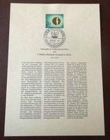 Erstausgabe des Sonderpostwertzeichens zum 7. Weltfrontkämpfer-Kongreß in Berlin 1957 - Nr. 31