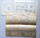 Alte Quittungen Finanzamt Calau aus den 1930er Jahren