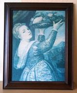 Kunstdruck mit Rahmen - Tizian - VEB E. A. Seemann Leipzig