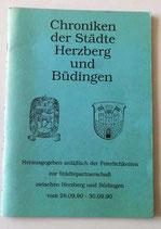 Chroniken der Städte Herzberg und Büdingen