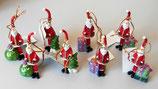 Lustige Nikolausfiguren für den Weihnachtsbaum - 8 Stück