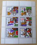 Briefmarkenbogen - Die  Bremer Stadtmusikanten - DDR