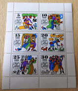 Briefmarkenbogen - Jorinde und Joringel - DDR