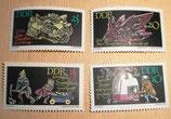 4 Briefmarken DDR - 200 Jahre Bergakademie Freiberg 1965