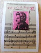 Briefmarke - Wolfgang Amadeus Mozart - Deutsche Staatsbibliothek Berlin - DDR