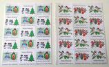 """Hübsche weihnachtliche Briefmarken . Die Kinder der """"Schwestern Maria"""""""