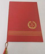 DDR Urkundenmappe