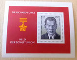 Briefmarke - Held der Sowjetunion Dr. R. Sorge - DDR 1976