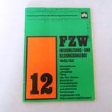 FZW Informations- und Bildungsangebot 1982/83