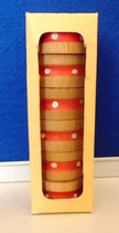 6 Serviettenringe aus Holz DDR