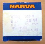 Glühbirne NARVA (klein) – 225V – 25W – E 27 - OVP