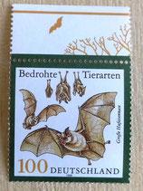 Briefmarke - Bedrohte Tierarten - Große Hufeisennase - 1999
