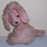Plüschhund in rosa DDR