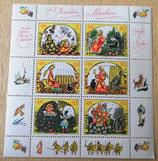 Briefmarkenbogen - A.S. Puschkin-Von der toten Zarentochter und den 7 Recken - DDR 1984
