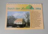 Kalender Naturpark Niederlausitzer Heidelandschaft 1994