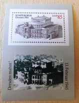 Briefmarke - Semperoper Dresden 1945-1985 - DDR
