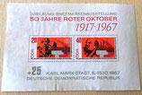 Briefmarke - 50 Jahre Roter Oktober 1917-1967 - DDR