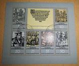 Briefmarkenbogen - 450. Jahrestag des Deutschen Bauernkrieges - DDR - gestempelt