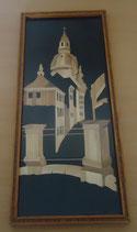Wandbild mit filigranem Holzbild