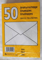 Briefumschläge in blau - 50 Stück - DIN C6
