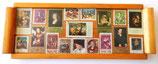 Kleines Tablett mit Briefmarken - DDR