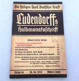Ludendorffs Halbmonatschrift Folge 14 1937 Achtes Jahr