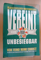 "Plakat ""Klassenbrüder; Waffenbrüder VEREINT unbesiegbar"" – Oktober 1970"
