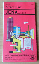 Stadtplan Jena - VEB Landkartenverlag Berlin - DDR