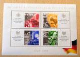 2 Briefmarkenbögen - IBRA '99 und 50 Jahre BRD 1949-1999
