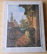 """Wandbild - Kunstdruck - Carl Spitzweg (1808-1885) """"Die Dachstube Ein Hypochonder"""""""