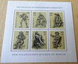Briefmarkenbogen - Zeichnungen aus den Kupferstichkabinett Berlin - DDR
