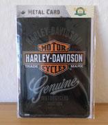 Blechpostkarte Harley-Davidson