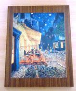 Holzplatte mit Kunstdruck