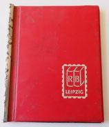 Kleines Briefmarkenalbum in Rot - RB Leipzig DDR