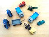 Kleines Konvolut Spielzeugautos - Baufahrzeuge - DDR