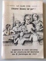 40 Jahre DDR - Ergebnisse im Kreis Herzberg