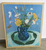 Kunstdruck: Blumenstrauß im Milchtopf