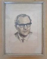 Bild mit Rahmen - Zeichnung von Erich Honecker