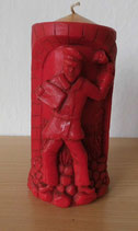 DDR Stumpenkerze Rot