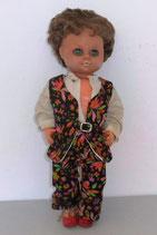 Alte Puppe mit kurzen braunen Haaren - DDR