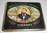 alte Blechdose / Zigarettendose Dannemann Brasil Pierrot