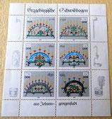 Briefmarkenbogen - Erzgebirgische Schwibbogen - DDR 1986