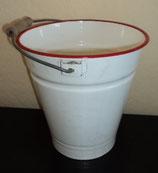 Emaille-Eimer weiss mit roterm Rand - 5 Liter