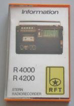 Kassette - R4000, R4200 - Stern Radiorecorder