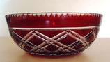 Kristallschale – Kristallschüssel – Rot – DDR