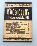 Ludendorffs Halbmonatschrift Folge 13 1937/1938