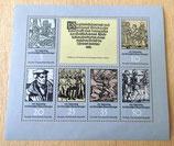 Briefmarkenbogen - 450. Jahrestag des Deutschen Bauernkrieges - DDR