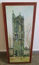 """Kunstdruck auf Holzplatte """"La Tour Saint Jacques"""" Maurice Utrillo"""