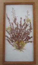 Bild mit gepressten Blumen - DDR - Nr. 3