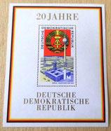 Briefmarke - 20 Jahre Deutsche Demokratische Republik - DDR 1969
